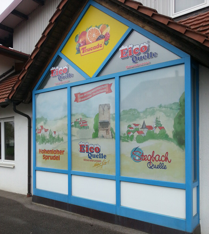 Flachglasbeklebung Windowfolie Digitaldruck EICO
