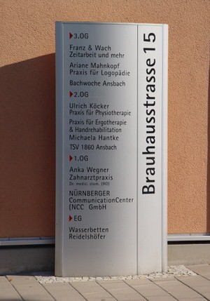 Stele Brücken Center